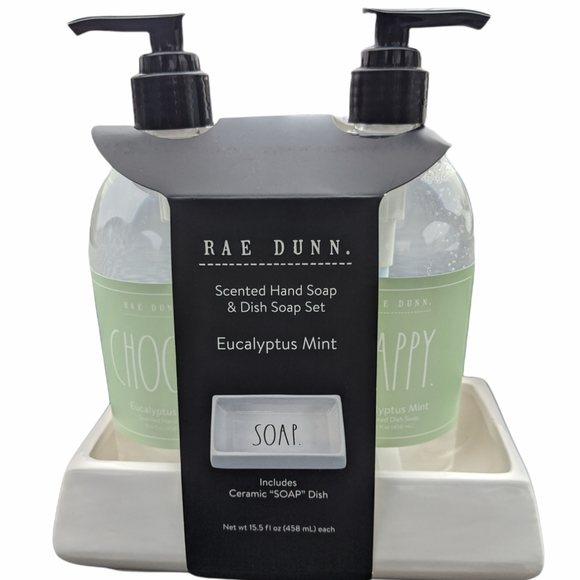 Rae Dunn scented hand soap & dish soap set